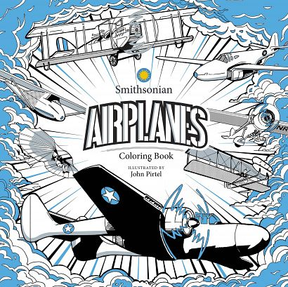 AIRPLANE SMITHSONIAN COLORING BOOK