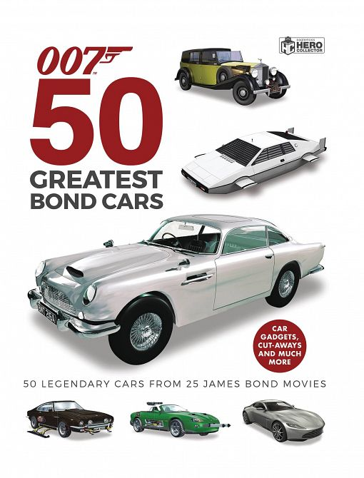 JAMES BOND 50 GREATEST BOND CARS HC